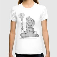 Face Balloon Womens Fitted Tee White SMALL