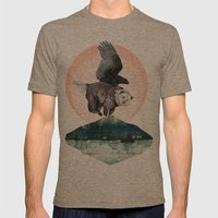 Beargle // Half Bear Hal… Mens Fitted Tee Tri-Coffee SMALL