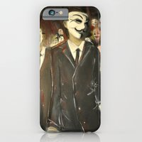 iPhone & iPod Case featuring except us - Anonymous by NosProd