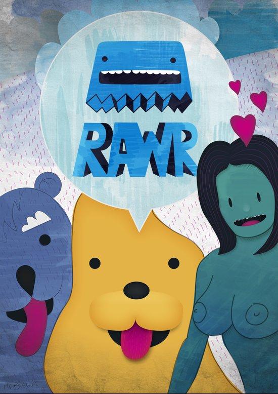 Rawr Returns! Art Print