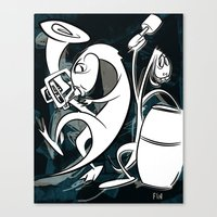 Music With Dinosaurs Canvas Print