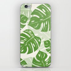 Linocut Monstera Leaf Pattern iPhone & iPod Skin