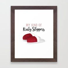 My Kind Of Ruby Slippers Framed Art Print
