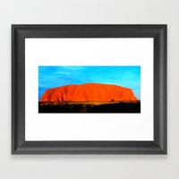 Ayers Rock Uluru Framed Art Print