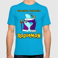 Downton Dolphin Mens Fitted Tee Teal SMALL