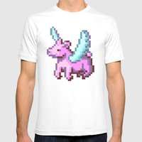 Kid Pix Pegasus Mens Fitted Tee White SMALL