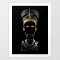 Art Print featuring Nefertiti AD (revisited) by Eric Zelinski