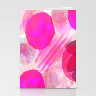 Stationery Cards featuring Pink Abstract Pattern by Jenna Davis Designs
