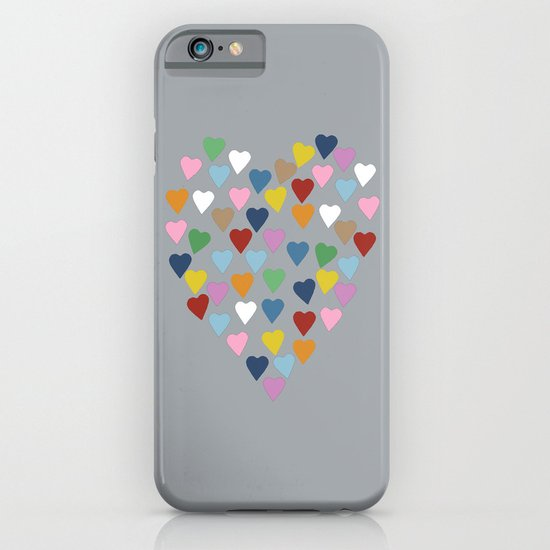 Hearts Heart Multi Grey iPhone & iPod Case