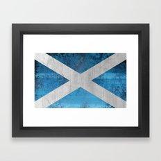 Scotland Flag Framed Art Print
