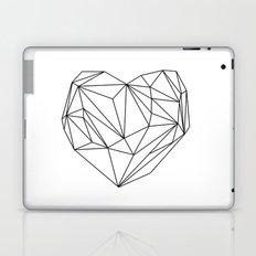 Heart Graphic (black on white) Laptop & iPad Skin