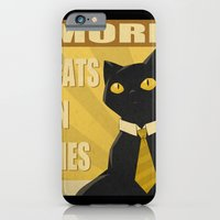 iPhone & iPod Case featuring Cats in Ties - PSA by FindChaos