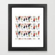 Geo Rocket Framed Art Print