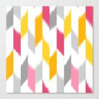 Ikat Stripes Canvas Print