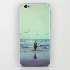 Woman on the Beach iPhone & iPod Skin