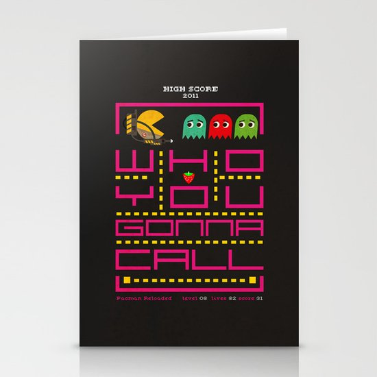 pacman ghostbuster Stationery Card