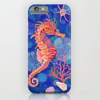 Seahorse In The Deep Blu… iPhone 6 Slim Case