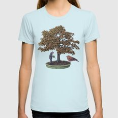 Enchanted Bonsai Womens Fitted Tee Light Blue SMALL
