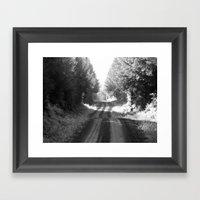Forest Road Framed Art Print