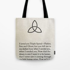 Triple Spiral Tote Bag