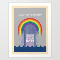 Rainbow Needs Rain Art Print