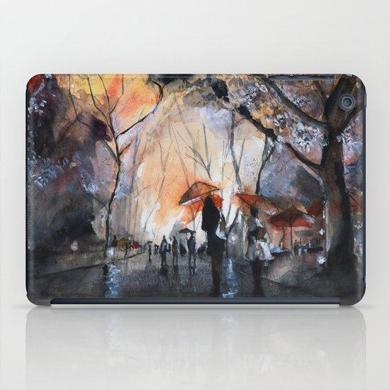 Autumn rain - watercolor iPad Case