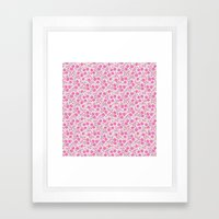 pink floral design Framed Art Print