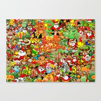In Christmas Melt Into T… Canvas Print