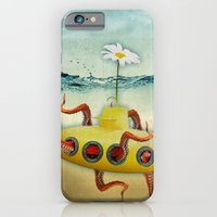 iPhone & iPod Case featuring yellow submarine in an octapuses garden by vin zzep