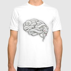 Brainsnake Mens Fitted Tee SMALL White