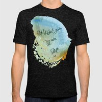 Without You, I Am Me Mens Fitted Tee Tri-Black SMALL