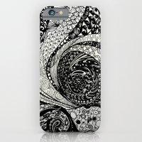 iPhone Cases featuring Cosmic Octopus by Juliana Cestaro