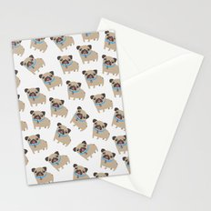 Puggy Pattern Stationery Cards