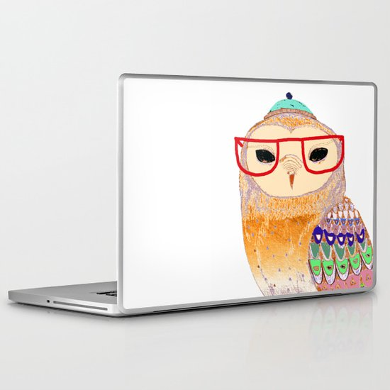 Pretty Awesome owl Laptop & iPad Skin