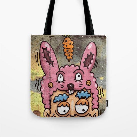 Happy Rabbit Tote Bag