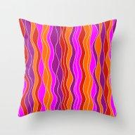 Waves 03 Throw Pillow