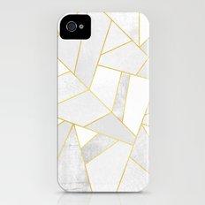 White Stone Slim Case iPhone (4, 4s)