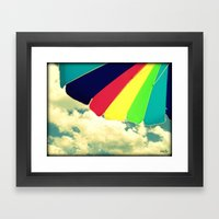 Under my umbrella Framed Art Print