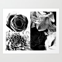 Delicate flower abstract Art Print