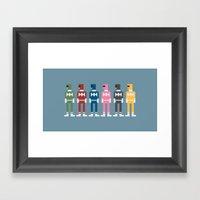 Power Rangers 8-Bit Framed Art Print