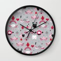 Bloody Family pattern Wall Clock