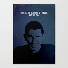 Leonard on Logic Canvas Print
