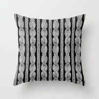 Cable Row B Throw Pillow