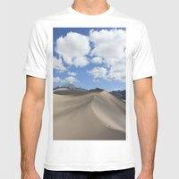 Great Sand Dunes Mens Fitted Tee White SMALL