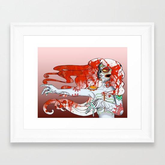la muerta Framed Art Print