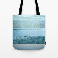 Water Study Abstract Blu… Tote Bag