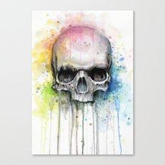 Skull Watercolor Painting Canvas Print