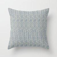 Freeform Arrows in navy Throw Pillow