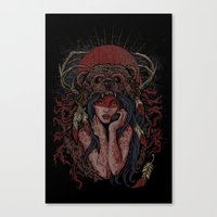 Tattooed Bear Canvas Print