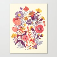 Canvas Print featuring The Garden Crew by Teagan White